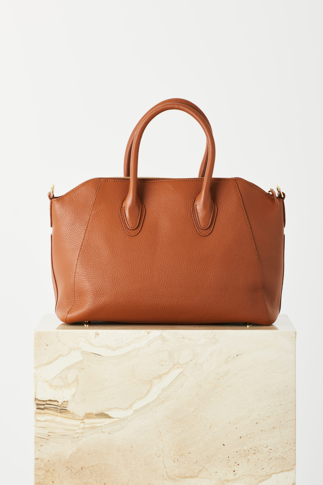 Shaz Tote In Tan Leather